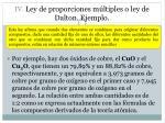 iv ley de proporciones m ltiples o ley de dalton ejemplo