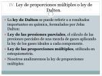 iv ley de proporciones m ltiples o ley de dalton