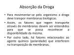 absor o da droga