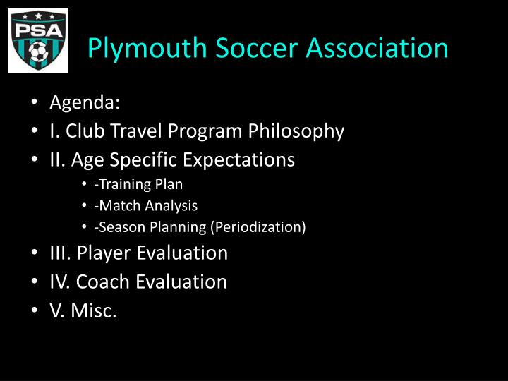 plymouth soccer association n.
