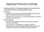 applying protective coatings