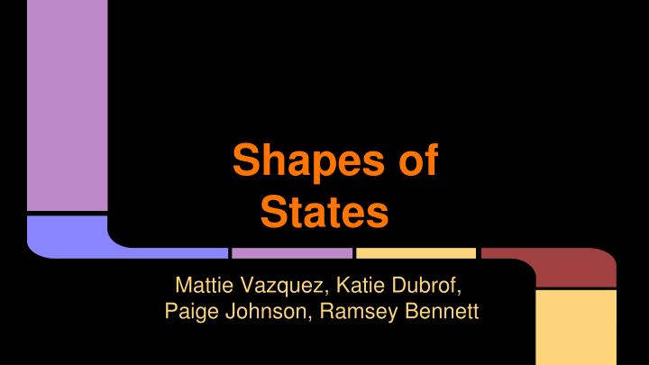 shapes of states n.