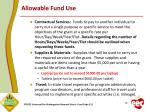 allowable fund use1