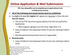 online application mail submissions