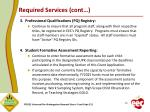 required services cont
