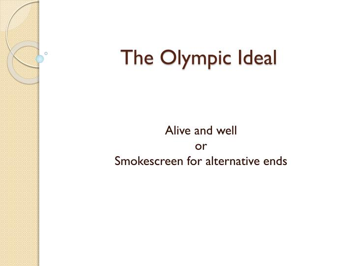 the olympic ideal n.