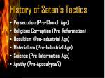 history of satan s tactics1