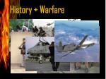 history warfare