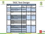 tasc test design