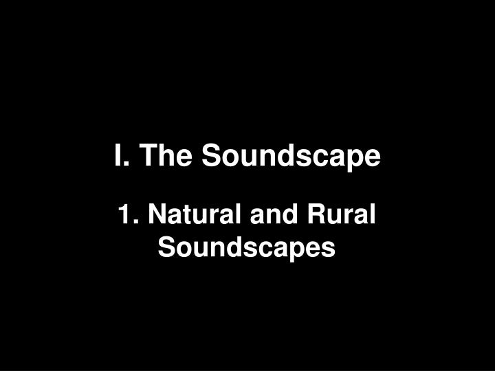 i the soundscape n.