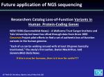 future application of ngs sequencing