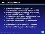 hh1 conclusions