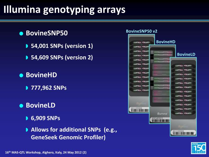 Illumina genotyping arrays