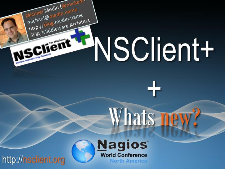 nsclient whats new n.