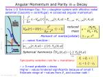 angular momentum and parity in a decay