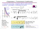 dependent a transmission coefficients