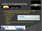 unity to preparedness