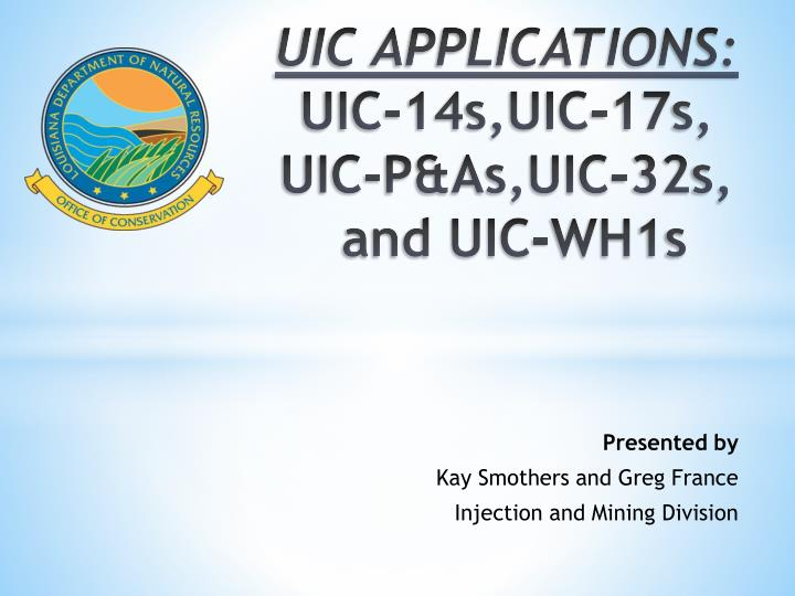 uic applications uic 14s uic 17s uic p as uic 32s and uic wh1s n.
