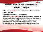 automated external defibrillators aed in children