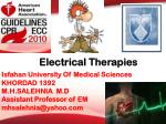 electrical therapies