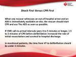 shock first versus cpr first