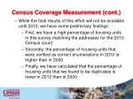 census coverage measurement cont