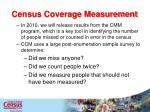 census coverage measurement