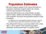 population estimates