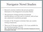 navigator novel studies1