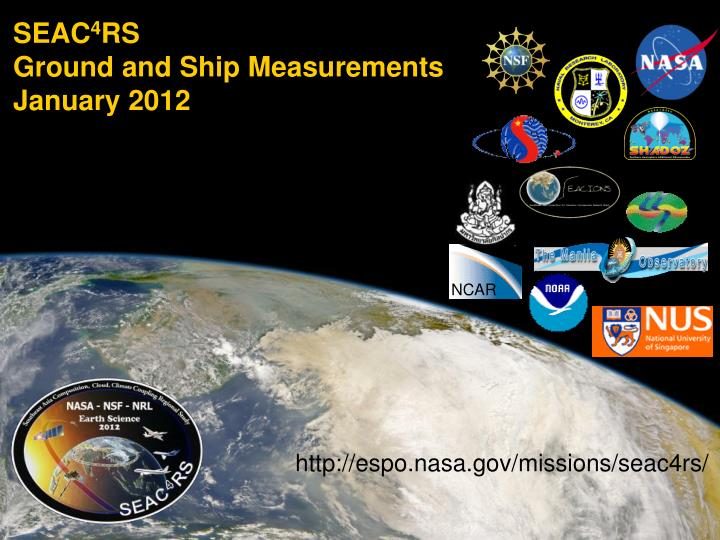 seac 4 rs ground and ship measurements january 2012 n.