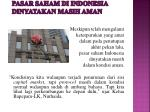 pasar saham di indonesia dinyatakan masih aman