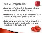 fruit vs vegetables