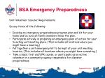bsa emergency preparedness