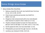 some things jesus knew