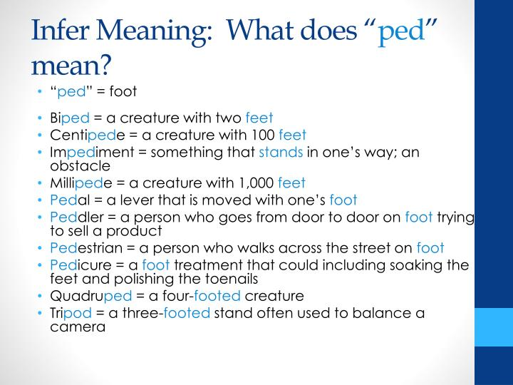 Infer Meaning:  What does ""