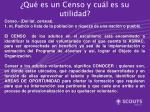 qu es un censo y cu l es su utilidad