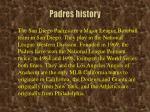 padres history