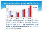 preferencia por la educaci n f sica