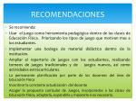 r ecomendaciones