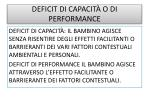 deficit di capacit o di performance