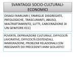 svantaggi socio culturali economici