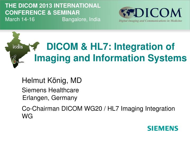 dicom hl7 integration of imaging and information systems n.