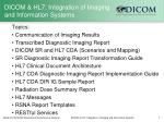 dicom hl7 integration of imaging and information systems1