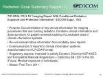 radiation dose summary report 1