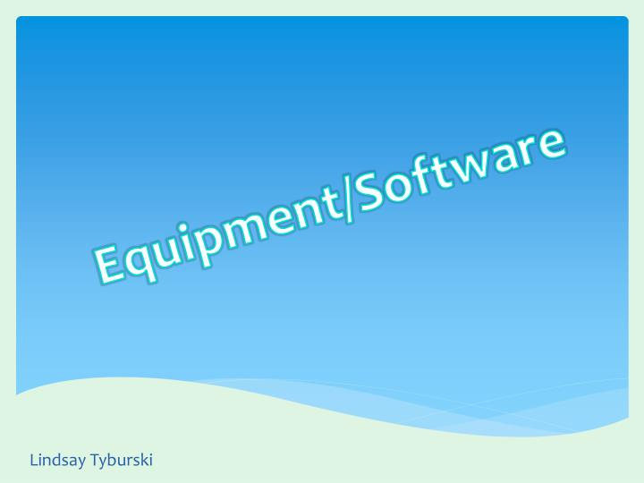 equipment software n.