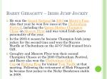 barry geraghty irish jump jockey
