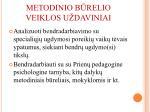 metodinio b relio veiklos u daviniai