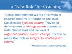 a new role for coaching
