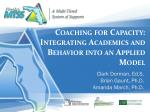 coaching for capacity integrating academics and behavior into an applied model