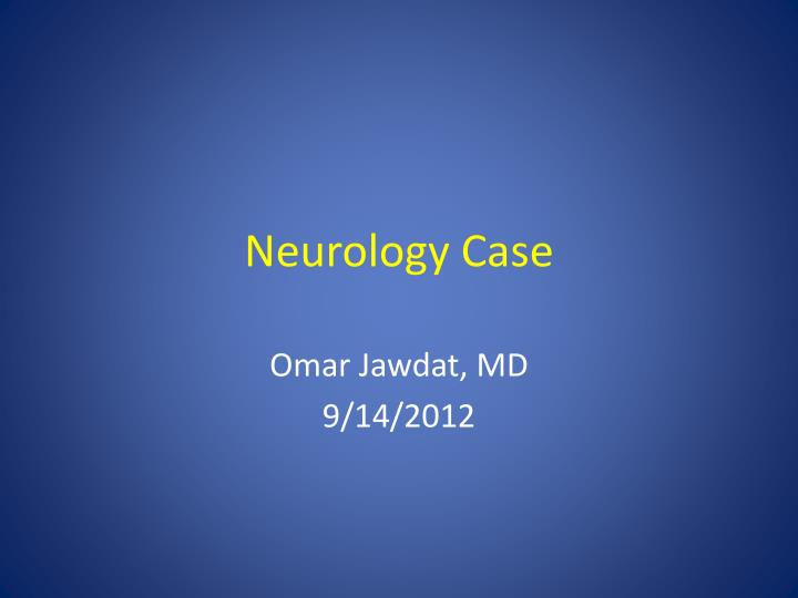 neurology case n.